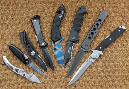 моделей складных ножей.